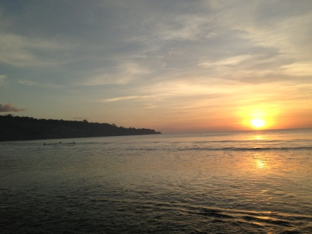 Sunset in our birth city, Mataram, Lombok