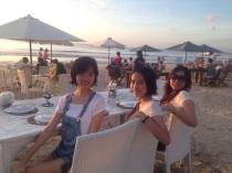 Eating at the beach Djimbaran, Bali