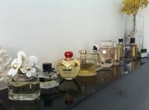 Perfume collection.