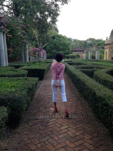 Maze garden at Kaliandra Eco Resort and Farm, Pandaan