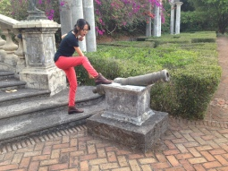 Cannon from VOC (Dutch East Indies Company) at Kaliandra Eco Resort and Farm, Pandaan
