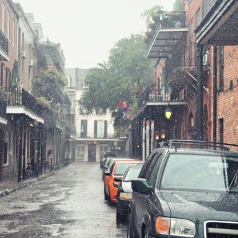 Rain in New Orleans