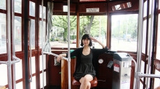 Alysta in a streetcar